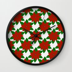 C13D Poinsettia Wall Clock
