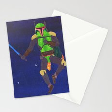 Boba Fett with a Lightsaber Collage Stationery Cards