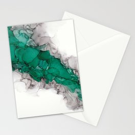 Study in Green Stationery Cards
