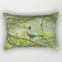 Purple-crested Turaco Rectangular Pillow