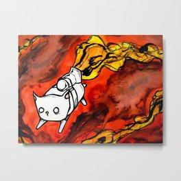 peapod cat Metal Print