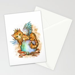 Fluffy overlord Stationery Cards