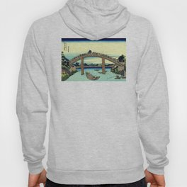 Under Mannen Bridge at Fukagawa (Fukagawa Mannen-bashi shita or 深川万年橋下) Hoody