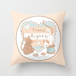 Mice for Trans Rights Throw Pillow
