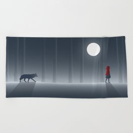 Little Red Riding Hood Beach Towel