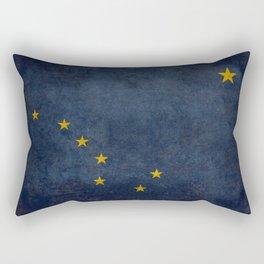 Alaska State Flag, Vintage retro version Rectangular Pillow