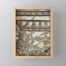 Column Carving Framed Mini Art Print
