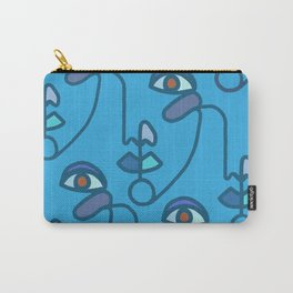 Multi Faced Sea Glass Carry-All Pouch