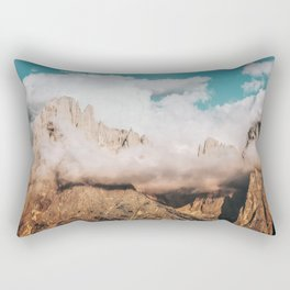 Mountains in Clouds.  Nature Landscape Photography Rectangular Pillow