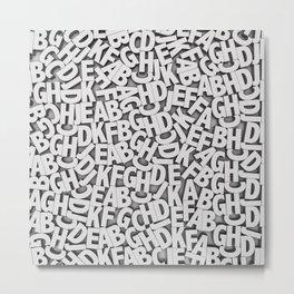 Learn the alfabet Metal Print