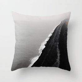 BLACK SAND BEACH Throw Pillow