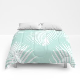Mint Tropical Pattern Comforters