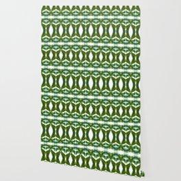 Palm Leaf Kaleidoscope (on white) #2 Wallpaper