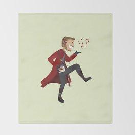 Dancing Quill Throw Blanket