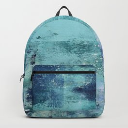 012.3: a bright contemporary abstract piece in teal and lavender by Alyssa Hamilton Art  Backpack