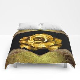 Antique Gold Rose Comforters