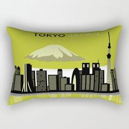 Cool tokyo japan skyline view design Rectangular Pillow