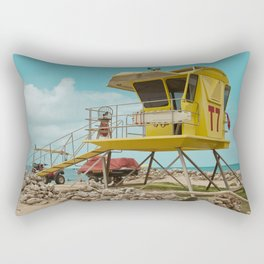 T7 Lifeguard Station Kapukaulua Beach Paia Maui Hawaii Rectangular Pillow