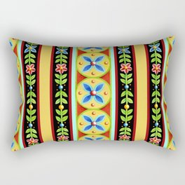 Elizabethan Folkloric Stripe Rectangular Pillow