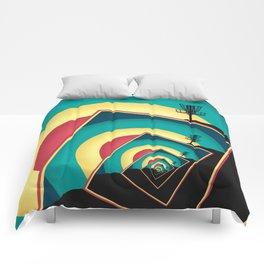 Spinning Disc Golf Baskets 2 Comforters