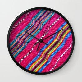Mexican colors 3 Wall Clock