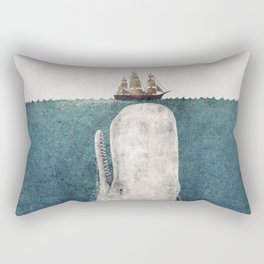 The Whale - vintage Rectangular Pillow