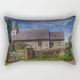 Litlington Church Rectangular Pillow