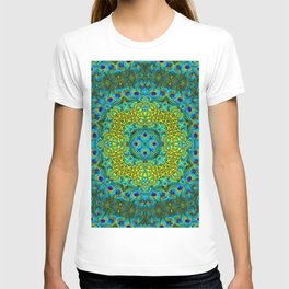 Peacock Feathers - Blue T-shirt