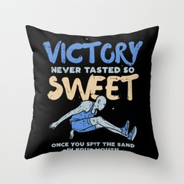 Victory Never Tasted So Sweet For Triple Jump Throw Pillow