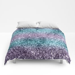Mermaid Girls Glitter #8 #shiny #decor #art #society6 Comforters