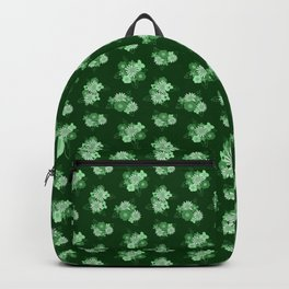 Floral Burst \\ Vintage Green Backpack