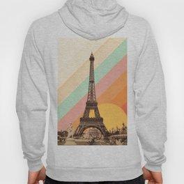 Rainbow Sky Above The Eiffel Tower Hoody