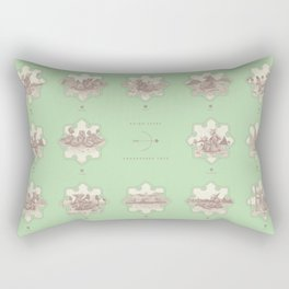 Endangered Love - Rhino Sutra Rectangular Pillow