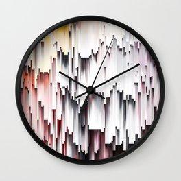 White Black Mauve Cascade Abstract Wall Clock