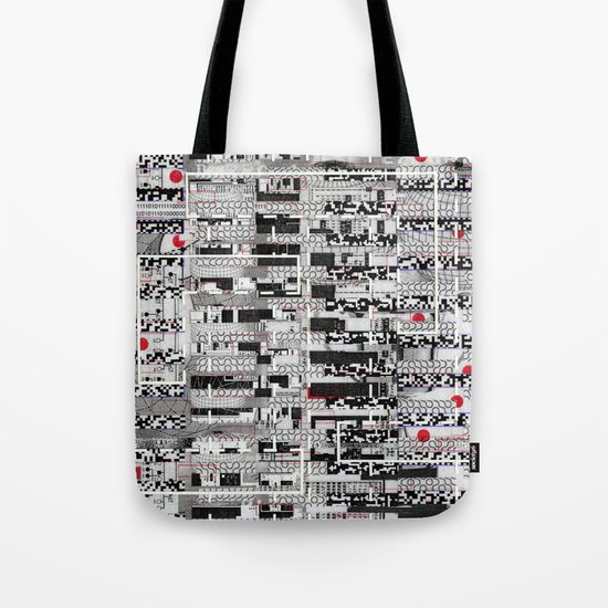 Opportunistic Species (P/D3 Glitch Collage Studies) Tote Bag