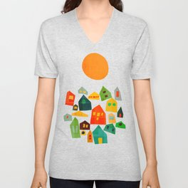 Looking at the same sun Unisex V-Neck