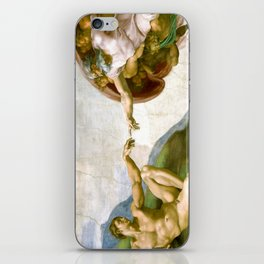 The Creation of Adam Painting by Michelangelo Sistine Chapel iPhone Skin