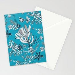 Cool Blue Cradle Flora Stationery Cards