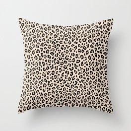 BLACK and WHITE LEOPARD PRINT – Ecru   Collection : Leopard spots – Punk Rock Animal Prints. Throw Pillow
