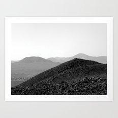 Sand dunes, Fuerteventura. Art Print
