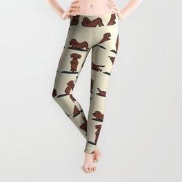 Dachshund yoga Leggings