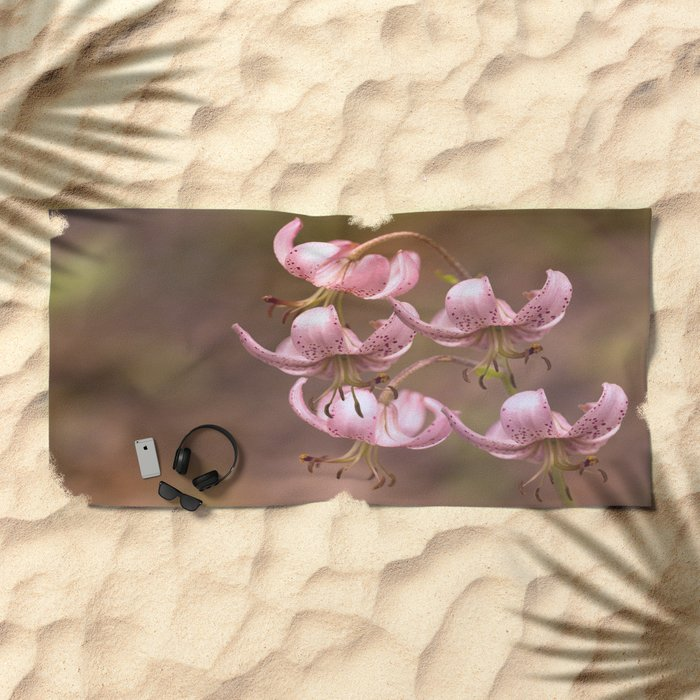 Pink Nostalgic Flowers #decor #society6 Beach Towel