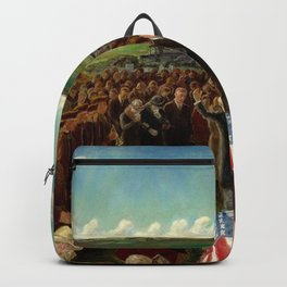 The Return of Private Davis from the Argonne Forest by John Steuart Curry Backpack