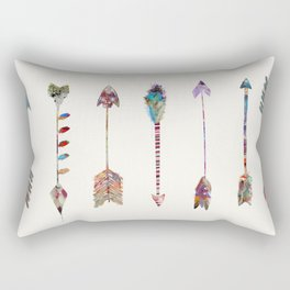 seven little arrows Rectangular Pillow
