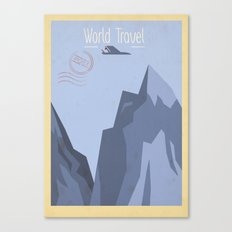 World Travel - Mountains Canvas Print