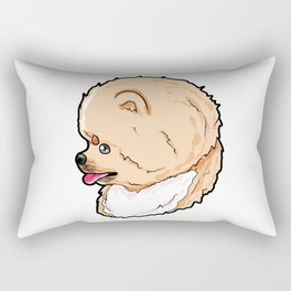 Pomeranian Dog Doggie Puppy Present Gift Rectangular Pillow