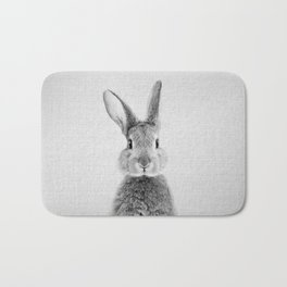 Rabbit - Black & White Bath Mat