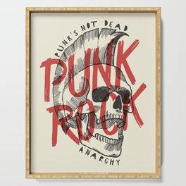 Punk Rock Skull Serving Tray