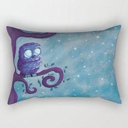 Owl & the stars Rectangular Pillow