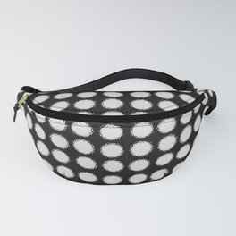 Milk Glass Polka Dots Black And White Fanny Pack
